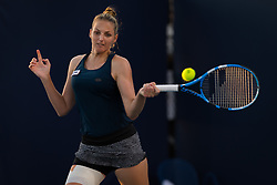 March 21, 2019 - Miami, FLORIDA, USA - Kristyna Pliskova of the Czech Republic in action during her first-round match at the 2019 Miami Open WTA Premier Mandatory tennis tournament (Credit Image: © AFP7 via ZUMA Wire)