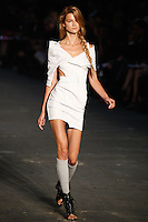Kasia Struss walks the runway wearing Alexander Wang Spring 2010 collection during Mercedes-Benz Fashion Week in New York, NY on September 11, 2009