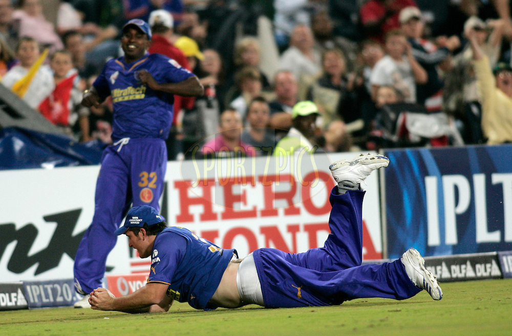 CENTURION, SOUTH AFRICA - 30 April 2009.  during the  IPL Season 2 match between the Rajasthan Royals and the Chennai Superkings held at  in Centurion, South Africa..Rajasthan Royals player Graeme Smith in action