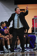 November 28, 2011; Moraga, CA, USA; San Francisco State Gators head coach Paul Trevor instructs during the first half of the Shamrock Office Solutions Classic consolation game against the Jacksonville State Gamecocks at McKeon Pavilion.
