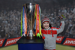 A young Bristol City fan with the Johnstone Paint Trophy Final - Photo mandatory by-line: Dougie Allward/JMP - Mobile: 07966 386802 - 11/03/2015 - SPORT - Football - Bristol - Cabot Circus Shopping Centre - Johnstone's Paint Trophy