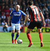 Birmingham City's David Cotterill on the ball during the Sky Bet Championship match between Bournemouth and Birmingham City at the Goldsands Stadium, Bournemouth, England on 6 April 2015. Photo by Mark Davies.