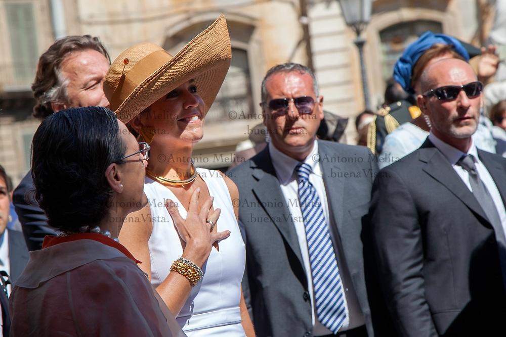 Máxima d'Olanda, in visita ufficiale a Palermo.