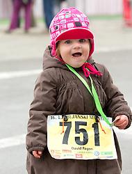 Child during 16th International Ljubljana Marathon 2011 on October 23, 2011, in Trg republike, Ljubljana, Slovenia.  (Photo by Vid Ponikvar / Sportida)