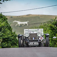 Paul Gregory and Nick Savage in their Alfa Romeo 8C Touring Spider  on the Royal Automobile Club 1000 Mile Trial 2015