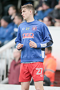 George Waring (Carlisle United) warms up on the sideline during the EFL Sky Bet League 2 match between Hartlepool United and Carlisle United at Victoria Park, Hartlepool, England on 14 April 2017. Photo by Mark P Doherty.