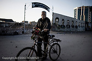 Gaza City: A Palestinian man walks by the Hamas compound in Gaza City after was totally destroyed by Israeli Air Force. November 18, 2012. ALESSIO ROMENZI