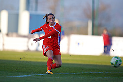 ZENICA, BOSNIA AND HERZEGOVINA - Tuesday, November 28, 2017: Wales' Kayleigh Green scores the first goal during the FIFA Women's World Cup 2019 Qualifying Round Group 1 match between Bosnia and Herzegovina and Wales at the FF BH Football Training Centre. (Pic by David Rawcliffe/Propaganda)