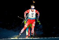 BOE Tarjei (NOR) competes during Men 15 km Mass Start at day 4 of IBU Biathlon World Cup 2014/2015 Pokljuka, on December 21, 2014 in Rudno polje, Pokljuka, Slovenia. Photo by Vid Ponikvar / Sportida
