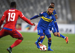Cape Town-180804 Cape Town City midfielder Riyaad Norodien challenged by Evans Rusike of Supersport in the first game of the 2018/2019 season at Cape Town Stadium.photograph:Phando Jikelo/African News Agency/ANAr