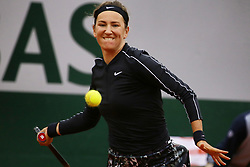 May 30, 2019 - Paris, France - Belarus's Victoria AZARENKA hits a ball during the women's singles second round of the French Open tennis tournament against Japan's Naomi OSAKA at Roland Garros in Paris, France on May 30, 2019. (Credit Image: © Ibrahim Ezzat/NurPhoto via ZUMA Press)