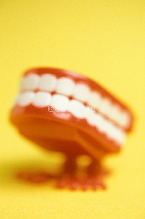 Toy chattering teeth blurry