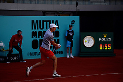 May 5, 2019 - Madrid, Spain - Hubert Hurkacz (POL) in hir match against Roberto Carballes Baena (SPA) during day two of the Mutua Madrid Open at La Caja Magica in Madrid on 5th May, 2019. (Credit Image: © Juan Carlos Lucas/NurPhoto via ZUMA Press)