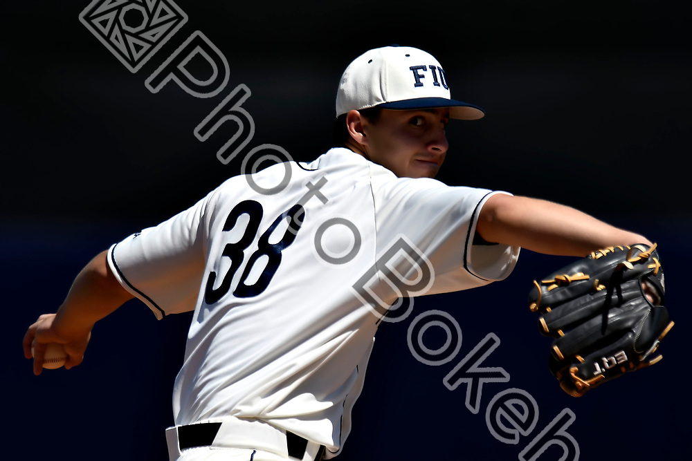 2018 March 04 - FIU's Logan Allen (38). <br /> Florida International University defeated Jacksonville State, 7-2, at FIU Baseball Stadium, Miami, Florida. (Photo by: Alex J. Hernandez / photobokeh.com) This image is copyright by PhotoBokeh.com and may not be reproduced or retransmitted without express written consent of PhotoBokeh.com. &copy;2018 PhotoBokeh.com - All Rights Reserved