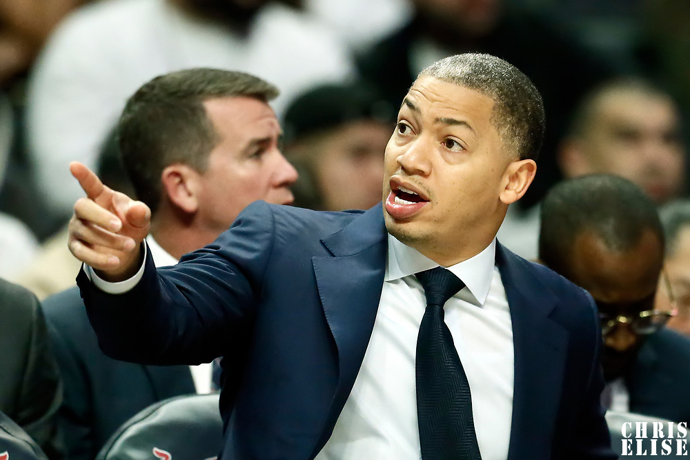 LOS ANGELES, CA - OCT 28: Assistant coach Tyronn Lue is seen during a game on October 28, 2019 at the Staples Center, in Los Angeles, California.
