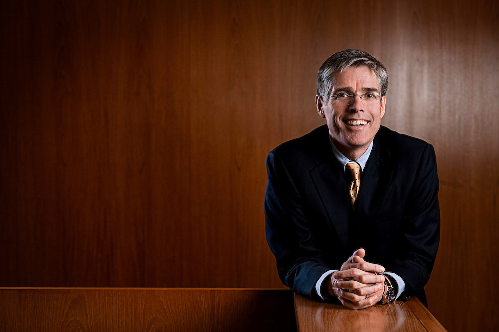 Gordon Smith is the Chief Executive Officer for Card Services at Chase Bank and was pictured in the company's Manhattan headquarters.