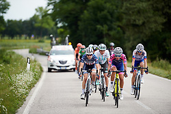 Ruth Winder (USA) in the lead group on the run in to the finish during Stage 8 of 2019 Giro Rosa Iccrea, a 133.3 km road race from Vittorio Veneto to Maniago, Italy on July 12, 2019. Photo by Sean Robinson/velofocus.com