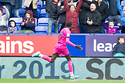 Rochdale forward Fabio Tavares celebrates his goal to make it 3-1 during the EFL Sky Bet League 1 match between Bolton Wanderers and Rochdale at the University of  Bolton Stadium, Bolton, England on 19 October 2019.