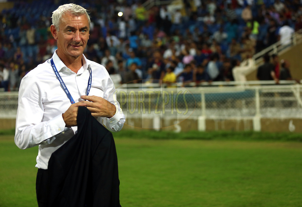 Ian Rush legend of football during match 22 of the Hero Indian Super League between Mumbai City FC and Delhi Dynamos FC City held at the D.Y. Patil Stadium, Navi Mumbai, India on the 5th November.<br /> <br /> Photo by:  Sandeep Shetty/ ISL/ SPORTZPICS