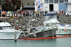 "Napier- Fishing boat ""Inyago"" sinks at Iron Pot mooring"