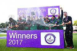 Chris Read of Nottinghamshire lifts the Royal London One-Day Cup Trophy after his sides win over Surrey - Mandatory by-line: Robbie Stephenson/JMP - 01/07/2017 - CRICKET - Lord's Cricket Ground - London, United Kingdom - Nottinghamshire v Surrey - Royal London One-Day Cup Final 2017