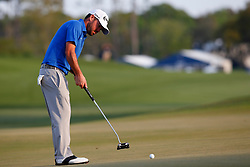 March 15, 2019 - Ponte Vedra Beach, FL, U.S. - PONTE VEDRA BEACH, FL - MARCH 15: Brian Harman of the United States putts on the ninth hole during the second round of THE PLAYERS Championship on March 15, 2019 on the Stadium Course at TPC Sawgrass in Ponte Vedra Beach, Fl.  (Photo by David Rosenblum/Icon Sportswire) (Credit Image: © David Rosenblum/Icon SMI via ZUMA Press)