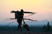 Africa, Ethiopia, Omo Valley, men of the Karo tribe