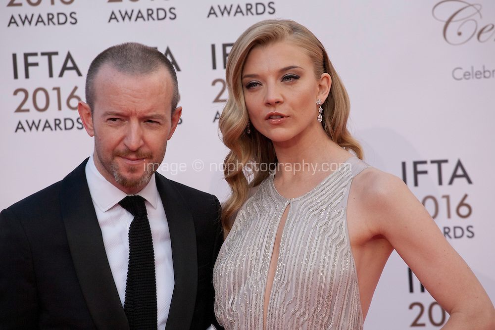 Director Anthony Byrne and Actress Natalie Dormer at the IFTA Film & Drama Awards (The Irish Film & Television Academy) at the Mansion House in Dublin, Ireland, Saturday 9th April 2016. Photographer: Doreen Kennedy