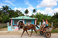 Horse and cart in Fomento, Sancti Spiritus Province, Cuba.