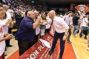 DESCRIZIONE : Reggio Emilia Lega A 2014-15 Grissin Bon Reggio Emilia - Banco di Sardegna Dinamo Sassari playoff Finale gara 5 <br /> GIOCATORE : Massimiliano Menetti<br /> CATEGORIA : esultanza postgame<br /> SQUADRA : Grissin Bon Reggio Emilia<br /> EVENTO : LegaBasket Serie A Beko 2014/2015<br /> GARA : Grissin Bon Reggio Emilia - Banco di Sardegna Dinamo Sassari playoff Finale gara 5<br /> DATA : 22/06/2015 <br /> SPORT : Pallacanestro <br /> AUTORE : Agenzia Ciamillo-Castoria/GiulioCiamillo<br /> Galleria : Lega Basket A 2014-2015 Fotonotizia : Reggio Emilia Lega A 2014-15 Grissin Bon Reggio Emilia - Banco di Sardegna Dinamo Sassari playoff Finale  gara 5<br /> Predefinita :