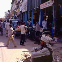 Street scene, Old Delhi, India, photograph photography