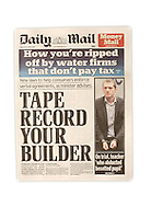 JAMES BOARDMAN / 07967642437<br /> Daily Mail Front 12 June 2013.