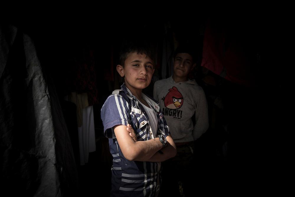 Young boy in Kawargosk refugee camp, Iraq, Kurdistan