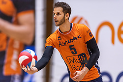 14-04-2019 NED: Achterhoek Orion - Draisma Dynamo, Doetinchem<br /> Orion win the fourth set and play the final round against Lycurgus. Dynamo won 2-3 / Shalev Saada #5 of Orion