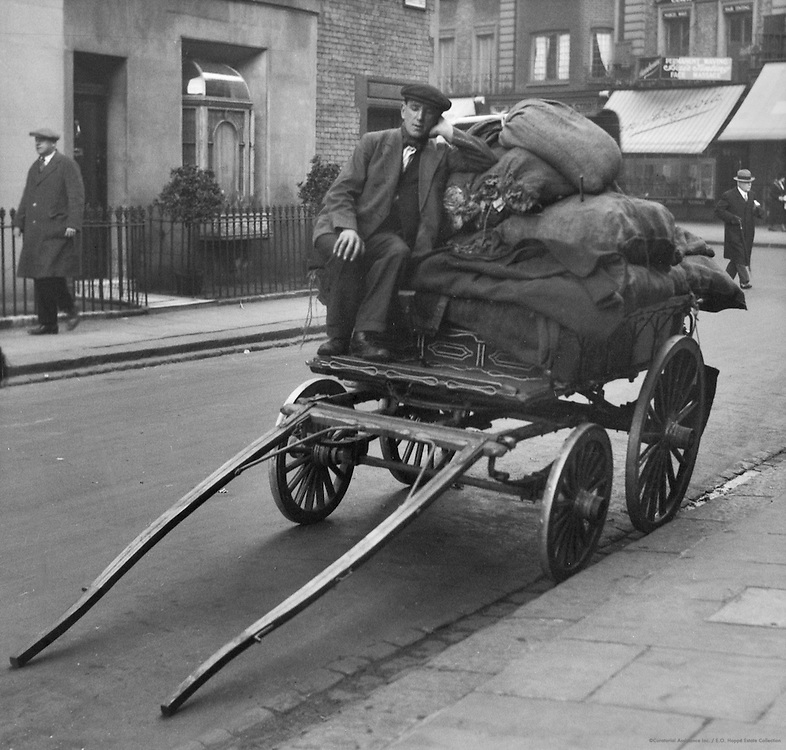 Man with Dustcart Full of Rags, London, 1934