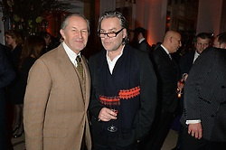 Left to right, NICK ASHLEY and DAVID DOWNTON at a reception hosted by The Rake Magazine and Claridge's to celebrate London Collections 2015 held at Claridge's, Brook Street, London on 8th January 2015.
