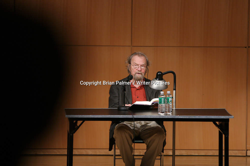 Donald Hall, American poet, reads from his work at an event sponsored by the Academy of American Poets held at The City University of New York in New York City, September 19, 2006. <br /> <br /> Copyright Brian Palmer / Writer Pictures<br /> Contact +44 (0)20 822 41564<br /> info@writerpictures.com<br /> www.writerpictures.com