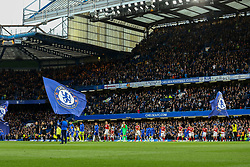 Chelsea and Middlesbrough walk out onto the pitch - Mandatory by-line: Jason Brown/JMP - 08/05/17 - FOOTBALL - Stamford Bridge - London, England - Chelsea v Middlesbrough - Premier League