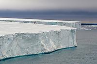 The Brasvellbreen tongue of the Austfonna ice cap on Nordaustlandet in the Svalbard archipelago, Norway.