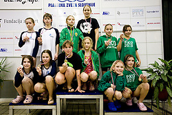 Ernestina Mohar Mastnak, Ana Hojan, Anja Sustar Finzgar and Neza Leskovar of PK Ilirija at Winter National Swimming championships of Slovenia for U11, on February 7, 2010 in Bazen Tivoli, Ljubljana, Slovenija. (Photo by Vid Ponikvar / Sportida)