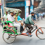 Cycle rickshaw in Chandi Chowk, Old Delhi