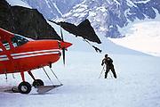 Glacier landing on Mt. McKinley