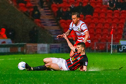 Richard Smallwood of Blackburn Rovers slides in to break down a Doncaster Rovers attack - Mandatory by-line: Ryan Crockett/JMP - 24/04/2018 - FOOTBALL - The Keepmoat Stadium - Doncaster, England - Doncaster Rovers v Blackburn Rovers - Sky Bet League One