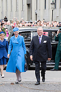 14.04.11. Copenhagen, Denmark.Queen Margrethe's and Prince Henrik's arrival to the Holmens Church to christening ceremony.Photo: Ricardo Ramirez