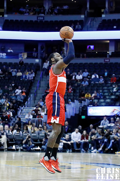 08 March 2017: Washington Wizards guard John Wall (2) takes a jump shot during the Washington Wizards 123-113 victory over the Denver Nuggets, at the Pepsi Center, Denver, Colorado, USA.