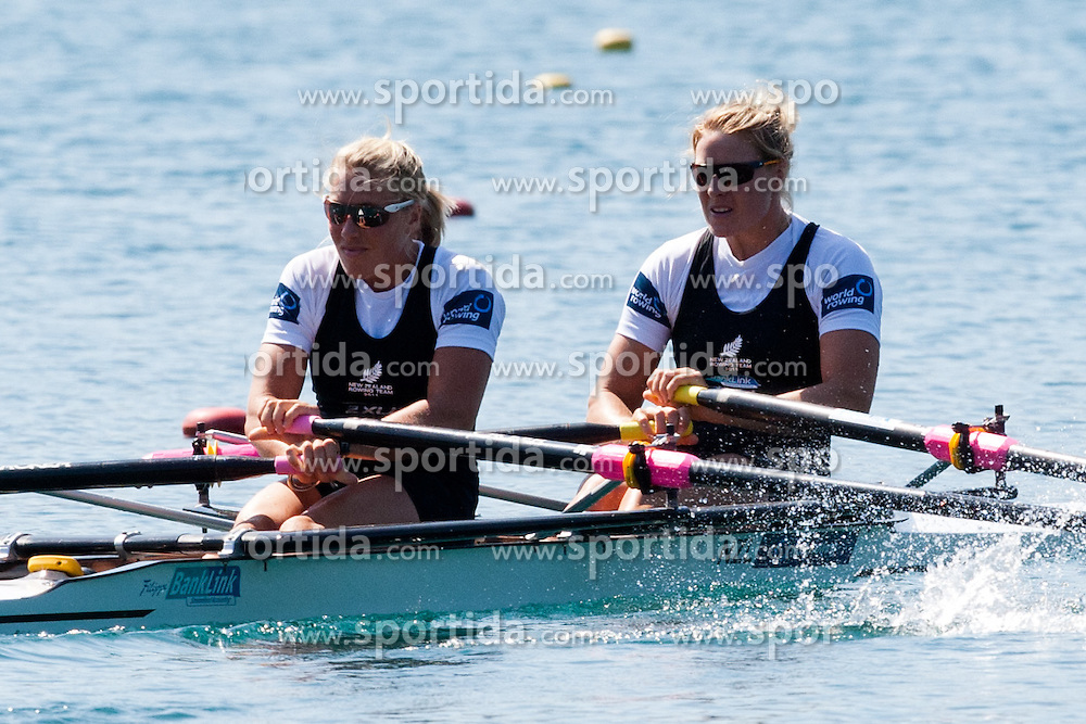 ATERSON Fiona and REYMER Anna of New Zealand during Women's Double Sculls at Rowing World Championships Bled 2011 on September 3, 2011, in Bled, Slovenia. (Photo by Matic Klansek Velej / Sportida)