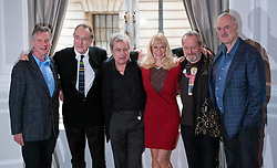 ©  London News Pictures.  21/11/2013.  L to R Michael Palin, Eric Idle, Terry Jones, Carol Cleveland, Terry Gilliam, and John Cleese. Members of Monty Python hold a press conference in London to announce that they will be reforming a live, one-off show in London next July. Photo credit : Ben Cawthra/LNP