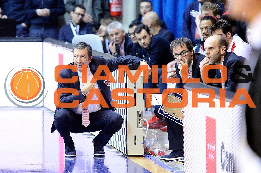 DESCRIZIONE : Desio Eurolega Euroleague 2014-15 EA7 Emporio Armani Milano Panathinaikos Atene<br /> GIOCATORE : Luca Banchi<br /> CATEGORIA : delusione<br /> SQUADRA : EA7 Emporio Armani Milano<br /> EVENTO : Eurolega Euroleague 2014-2015<br /> GARA : EA7 Emporio Armani Milano Panathinaikos Atene<br /> DATA : 11/12/2014<br /> SPORT : Pallacanestro <br /> AUTORE : Agenzia Ciamillo-Castoria/Max.Ceretti<br /> Galleria : Eurolega Euroleague 2014-2015<br /> Fotonotizia : Desio Eurolega Euroleague 2014-15 EA7 Emporio Armani Milano Panathinaikos Atene<br /> Predefinita :