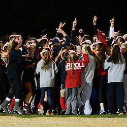 TOM KELLY IV &mdash; DAILY TIMES<br /> Carroll players celebrate their win over O'Hara following the Philadelphia Catholic League Championship Field Hockey match between Archbishop Carroll and Cardinal O'Hara which was held Thursday night October 30, 2014 at Neumann University.