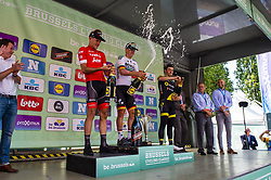 September 1, 2018 - Bruxelle, Belgique - ACKERMANN Pascal (GER) of Bora - Hansgrohe , STUYVEN Jasper (BEL) of Trek - Segafredo and BOUDAT Thomas (FRA) of Direct Energie pictured on the podium of  the Brussels Cycling Classic 2018  with start and finish in Brussels on September 01, 2018 in Brussel, Belgium, 1/09/2018 (Credit Image: © Panoramic via ZUMA Press)